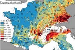 Cs-137 durch Tschernobyl im Oberboden Mitteleuropas. (c) Meusburger et al.