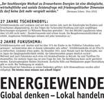 IPPNW-Anzeige in der Süddeutschen Zeitung vom 9.3.2013